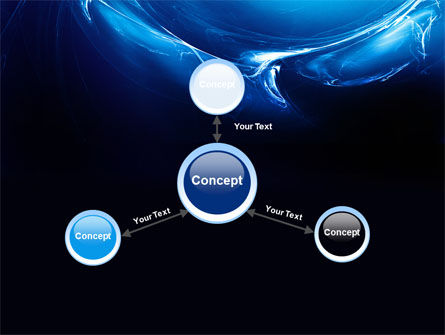 Blue Smoky Circles PowerPoint Template Slide 14