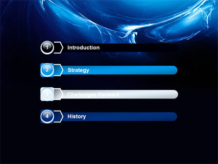 Blue Smoky Circles PowerPoint Template, Slide 3, 07403, Abstract/Textures — PoweredTemplate.com