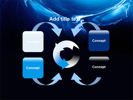 Blue Smoky Circles PowerPoint Template Slide 6