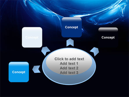 Blue Smoky Circles PowerPoint Template Slide 7