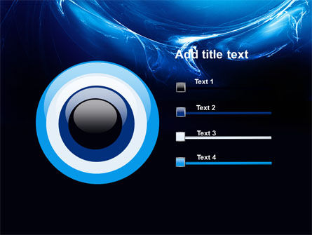 Blue Smoky Circles PowerPoint Template Slide 9