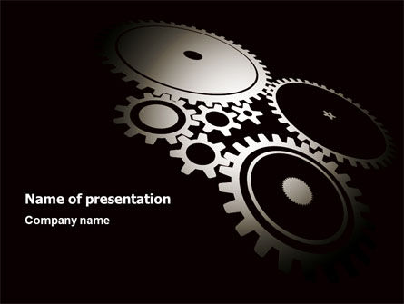 Utilities/Industrial: Dark Mechanism PowerPoint Template #07404