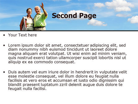 Old Couple PowerPoint Template Slide 2