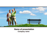 People: Old Couple PowerPoint Template #07405