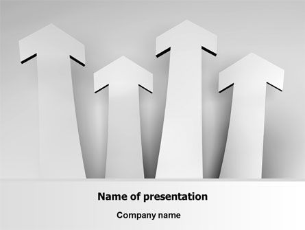 Arrows Up PowerPoint Template, 07406, Consulting — PoweredTemplate.com