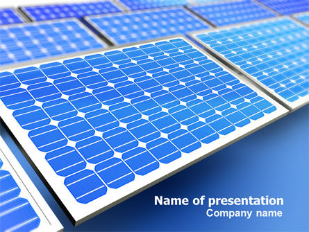 Technology and Science: Solar Batteries PowerPoint Template #07407