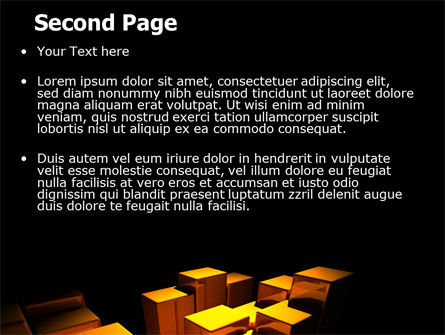 Gold Boxes PowerPoint Template Slide 2