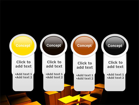 Gold Boxes PowerPoint Template Slide 5