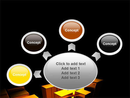 Gold Boxes PowerPoint Template Slide 7