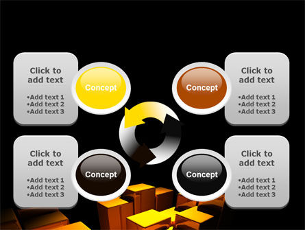 Gold Boxes PowerPoint Template Slide 9