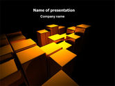 Business: Gold Boxes PowerPoint Template #07408