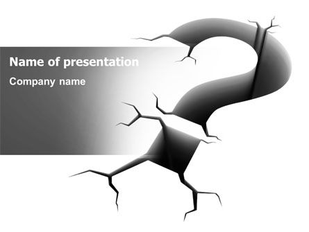 Cracked Question PowerPoint Template, 07409, Consulting — PoweredTemplate.com