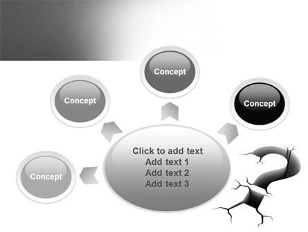 Cracked Question PowerPoint Template Slide 7