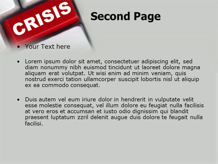 Crisis Button PowerPoint Template Slide 2