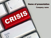 Financial/Accounting: Crisis Button PowerPoint Template #07410