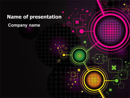 Abstract Networking Design PowerPoint Template, 07411, Technology and Science — PoweredTemplate.com