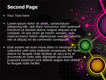Abstract Networking Design PowerPoint Template, Slide 2, 07411, Technology and Science — PoweredTemplate.com