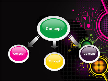 Abstract Networking Design PowerPoint Template, Slide 4, 07411, Technology and Science — PoweredTemplate.com