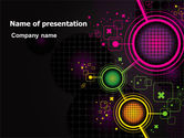 Technology and Science: Abstract Networking Design PowerPoint Template #07411