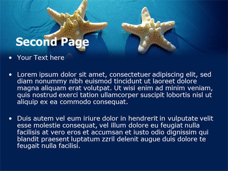 Starfish Background PowerPoint Template, Slide 2, 07412, Animals and Pets — PoweredTemplate.com