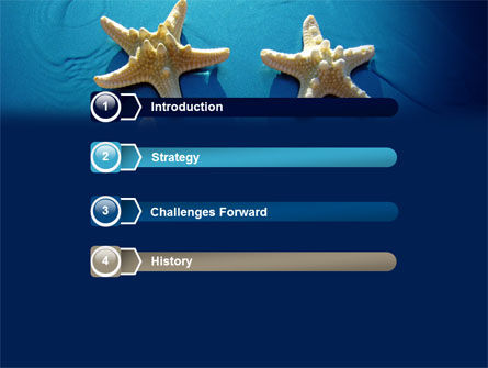 Starfish Background PowerPoint Template, Slide 3, 07412, Animals and Pets — PoweredTemplate.com