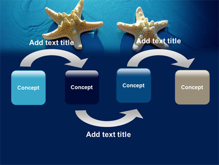 Starfish Background PowerPoint Template, Slide 4, 07412, Animals and Pets — PoweredTemplate.com