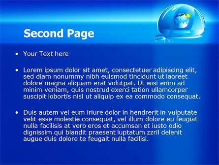 Blue Water Drop PowerPoint Template, Slide 2, 07414, Nature & Environment — PoweredTemplate.com