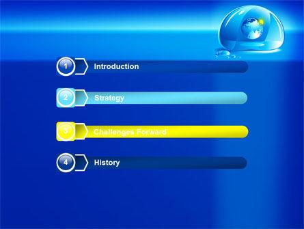 Blue Water Drop PowerPoint Template, Slide 3, 07414, Nature & Environment — PoweredTemplate.com