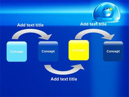Blue Water Drop PowerPoint Template, Slide 4, 07414, Nature & Environment — PoweredTemplate.com