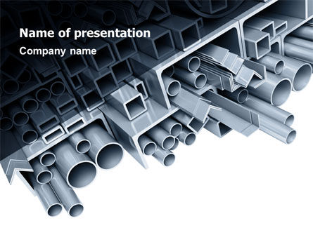 Steel Pipes PowerPoint Template, 07415, Utilities/Industrial — PoweredTemplate.com