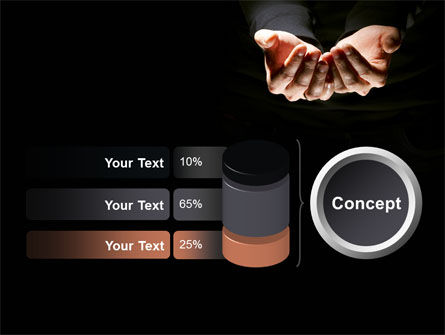 Cupped Hands PowerPoint Template Slide 11