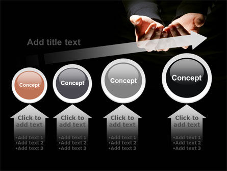 Cupped Hands PowerPoint Template Slide 13