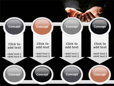 Cupped Hands PowerPoint Template Slide 18