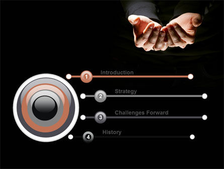 Cupped Hands PowerPoint Template, Slide 3, 07417, Business — PoweredTemplate.com
