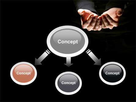 Cupped Hands PowerPoint Template, Slide 4, 07417, Business — PoweredTemplate.com