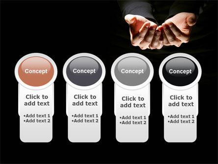 Cupped Hands PowerPoint Template Slide 5