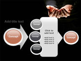 Cupped Hands PowerPoint Template#17