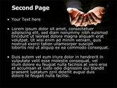 Cupped Hands PowerPoint Template#2