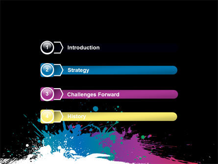 Paint Stains PowerPoint Template, Slide 3, 07420, Art & Entertainment — PoweredTemplate.com
