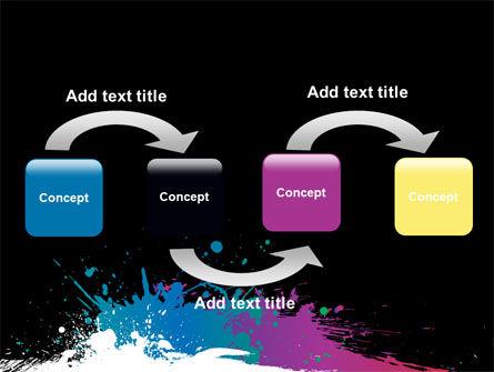 Paint Stains PowerPoint Template, Slide 4, 07420, Art & Entertainment — PoweredTemplate.com