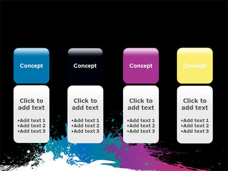 Paint Stains PowerPoint Template Slide 5