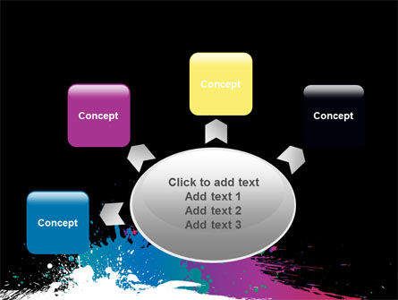 Paint Stains PowerPoint Template Slide 7