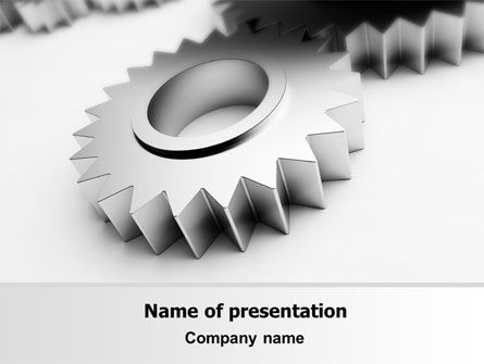 Consulting: Gearwheel PowerPoint Template #07421