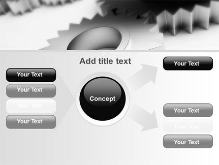 Gearwheel PowerPoint Template Slide 14