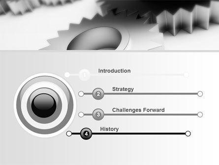 Gearwheel PowerPoint Template Slide 3