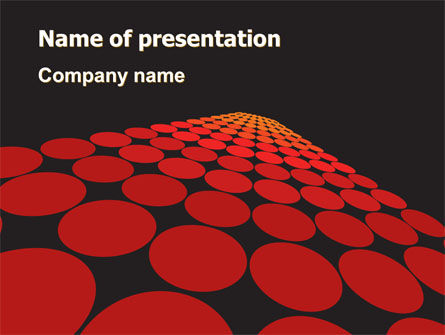 Abstract/Textures: Red Dotted Way PowerPoint Template #07422