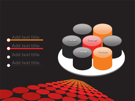 Red Dotted Way PowerPoint Template Slide 12
