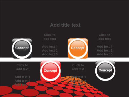 Red Dotted Way PowerPoint Template Slide 18