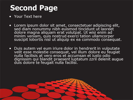 Red Dotted Way PowerPoint Template Slide 2