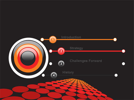 Red Dotted Way PowerPoint Template Slide 3